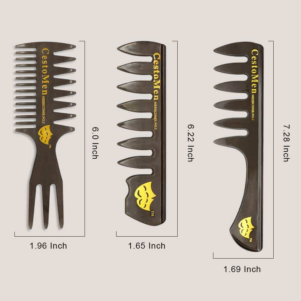 5 PCS Hair Comb Styling Set Barber Hairstylist Accessories - Professional Shaping & Teasing Wet Combs Tools, Anti Static Hair Brush for Men Boys [並行輸入品]