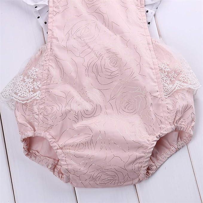 Wang-RX Lindo bebé recién Nacido Mameluco del Verano del ...