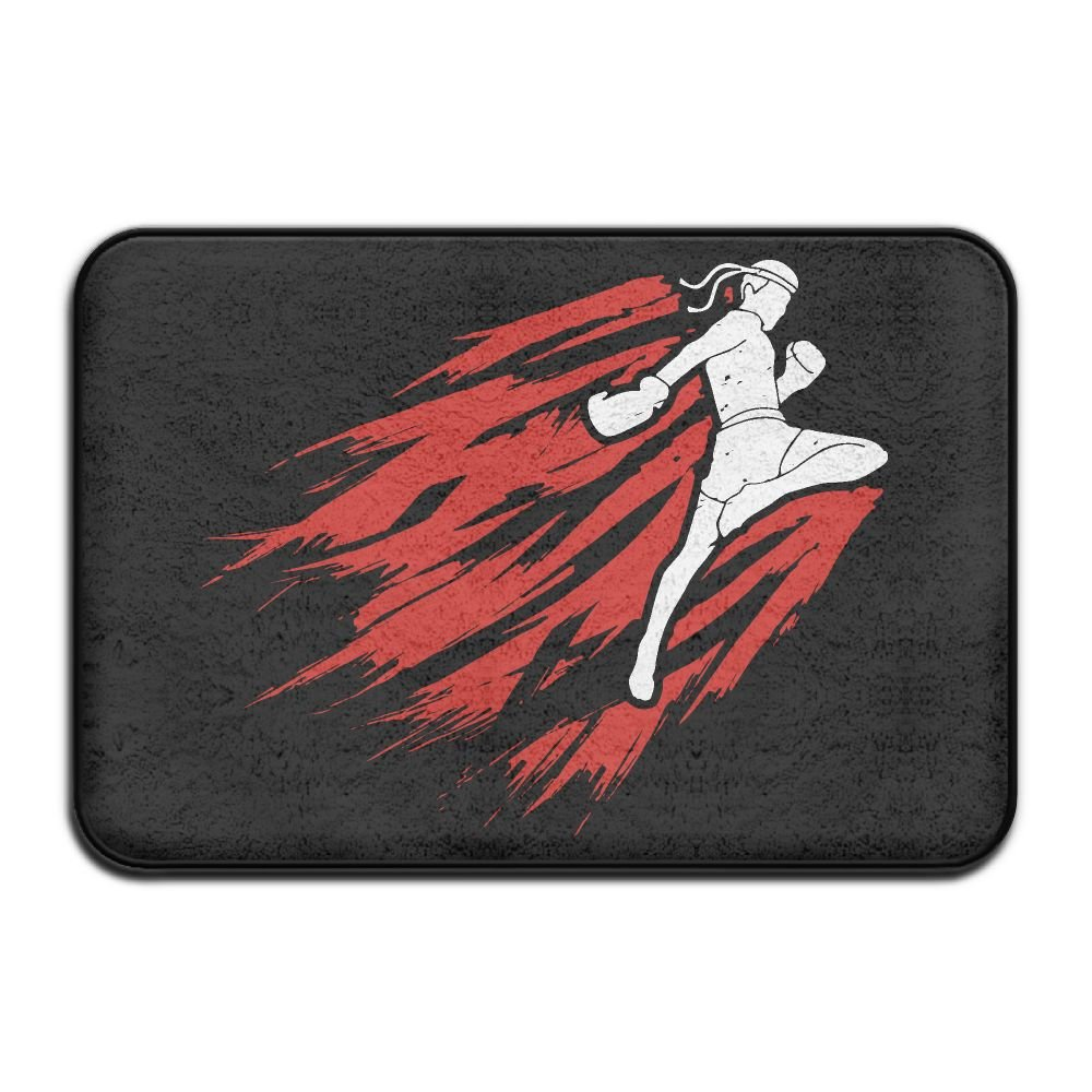 Muay Thai Non Slip Front Carpet Bath Mat by Mat_Rug&