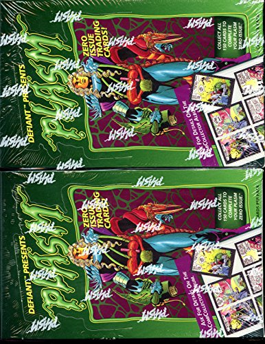 TWO 1993 The River Group Enlightened Defiant Plasm Wax Pack Box Trading Card Set from River Group