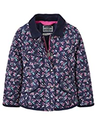 Joules Quilted Coat - French Navy Ditsy