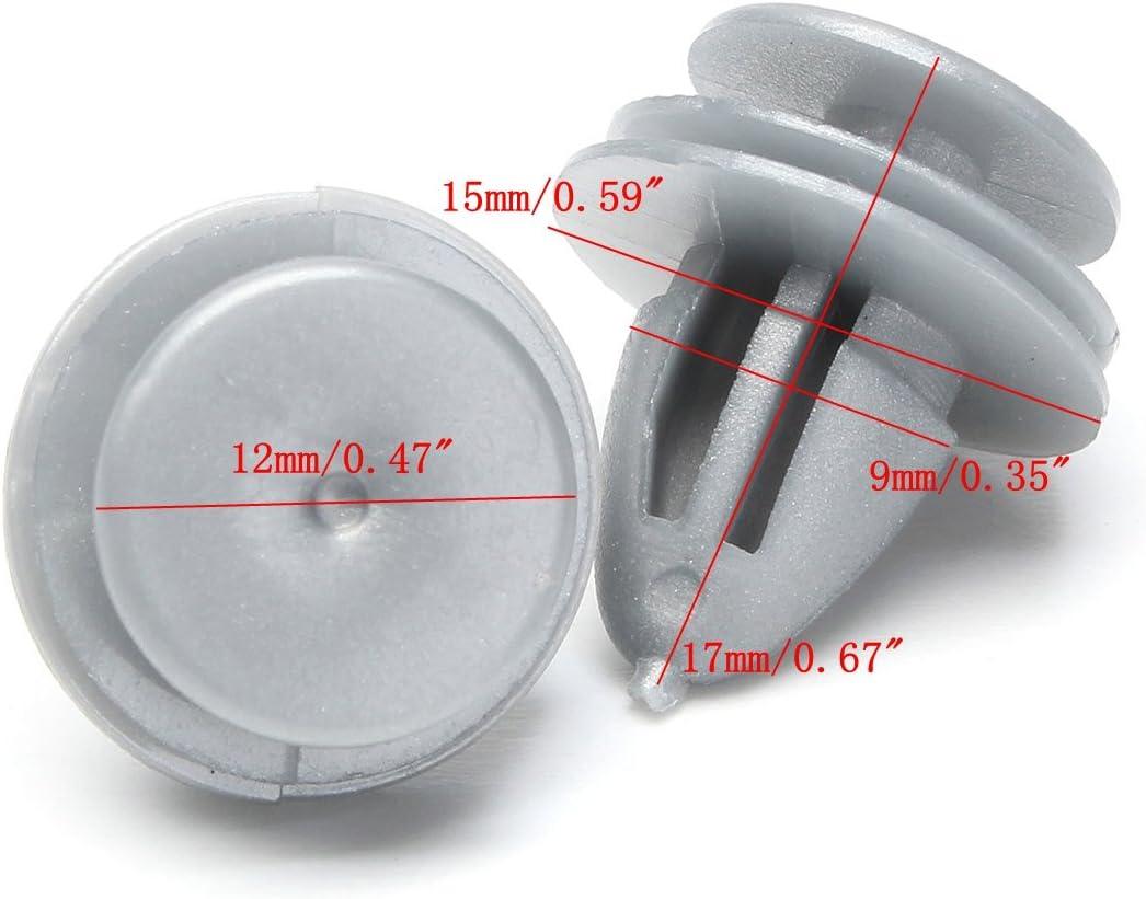 10 x Pinzas de Plástico Retenedor Recortar Panel Interior Tarjeta Puerta Honda Jazz Accord CRV