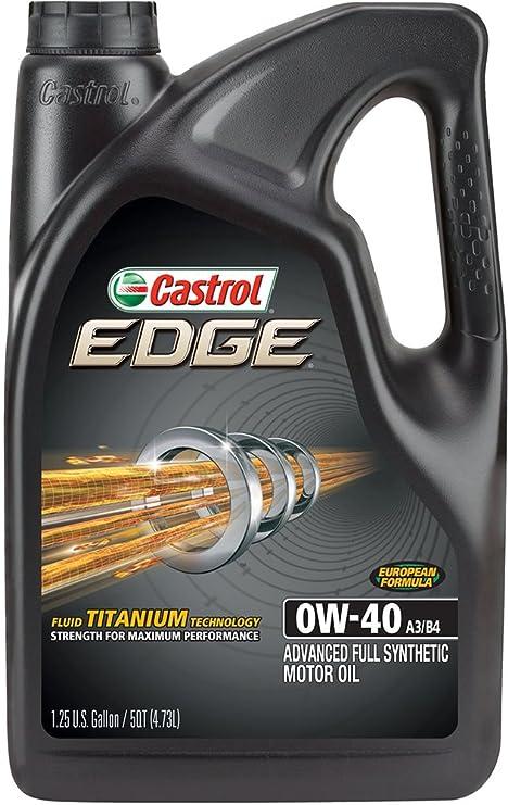 Castrol 03101 Edge 0 W-40 A3/B4 avanzada completa sintética aceite de motor