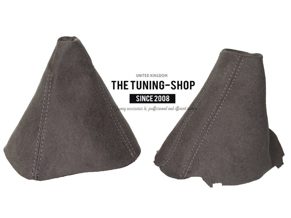 The Tuning-Shop Ltd GEAR GAITER BLACK LEATHER WHITE STITCHING