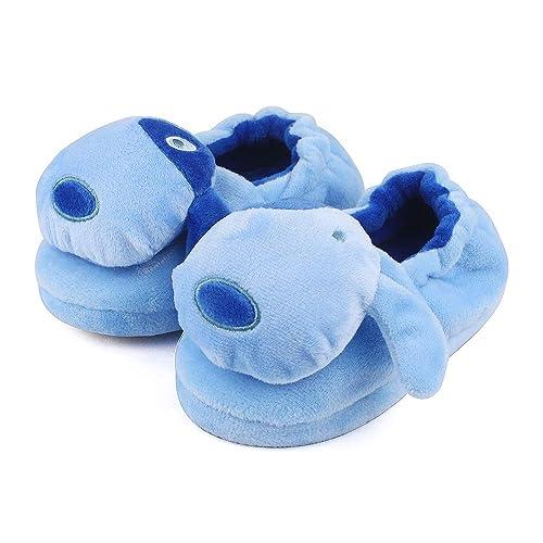 chaussures de sport b6ef2 66fad Lacoifa Pantoufles de Chien pour Enfant garçon ou Fille Chausson Animaux en  Peluche d'hiver antidérapants