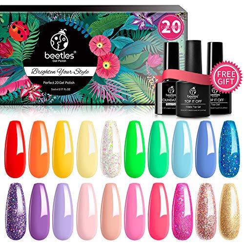 Beetles Pack of 23 Rainbow Gel Nail Polish