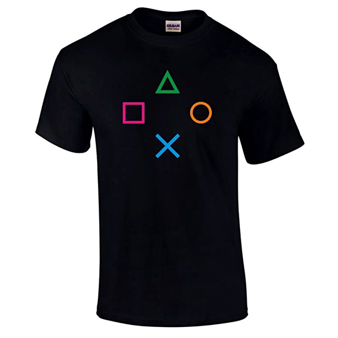 b208f2eff Playstation PS2 PS3 PS4 Controller Gaming Gamers Video Game T-shirt Choice  Of Colours S-5XL - Navy Blue - 5XL: Amazon.co.uk: Clothing