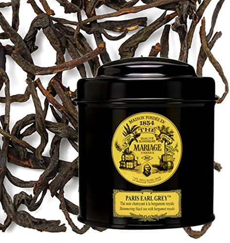 MARIAGE FRERES. Paris Earl Grey, 100g Loose Tea, in a Tin Caddy (1 Pack) NEW EDITION - USA Stock