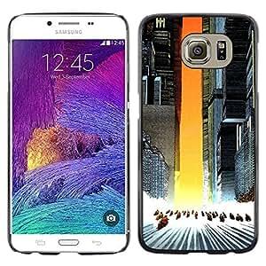 KLONGSHOP // Cubierta de piel con cierre a presión Shell trasero duro de goma Protección Caso - Akira Squad - Samsung Galaxy S6 //