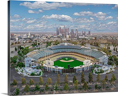 Copterpilot Photography Premium Thick-Wrap Canvas Wall Art Print entitled Los Angeles Dodger Stadium 30