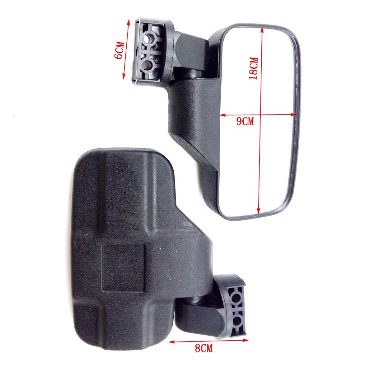 Can Am Commander OKSTNO UTV Adjustable Side Mirror Set 1.5-2 Backet for UTV RZR XP1000 RZR 900 John Deere Gators,Polaris Ranger RZR Gator Maverick Rhino