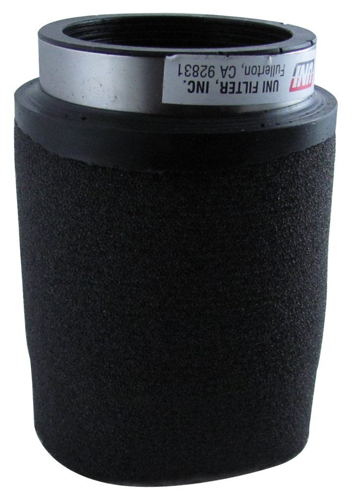 Uni Filter UP4229 Black Universal Urethane Flange Straight Clamp-On Pod Filter