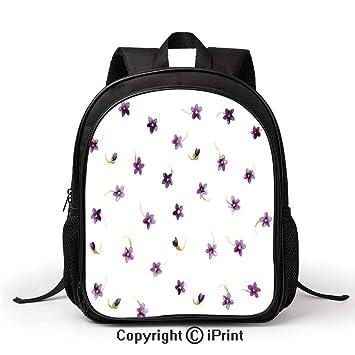 Amazon.com: Bolsa escolar de verano con flores en estilo ...