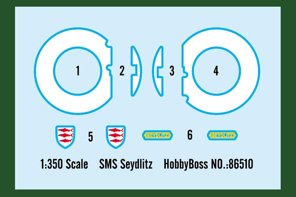 Hobby Boss 86510/Model Kit SMS Seydlitz