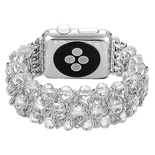 W&Z Banda de Reloj para Apple Watch Band 38mm/42mm Brazalete de ...