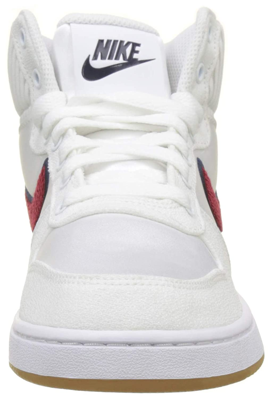 Nike WmnsEbernon Mid Prem, Zapatos de Baloncesto para Mujer, Blanco (White/Red Crush/Blackened Blue 100) 39 EU: Amazon.es: Zapatos y complementos