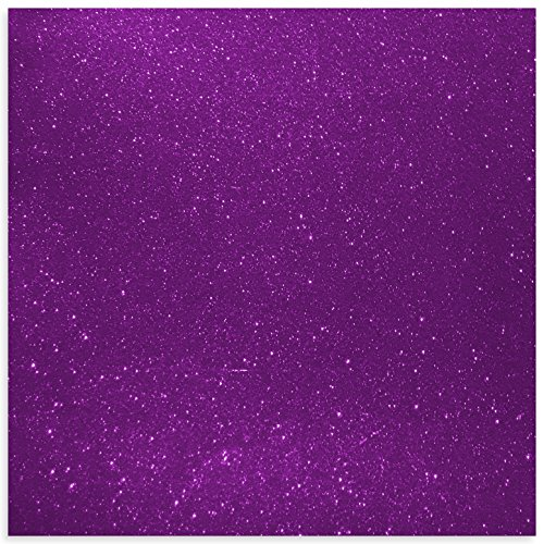 Purple Glitter Vinyl 12 by 15 FEET Transparent Glitter Adhesive Roll - for Cricut, Silhouette Cameo, Craft Cutters, and Die Cutters by StyleTech (Purple Glitter)