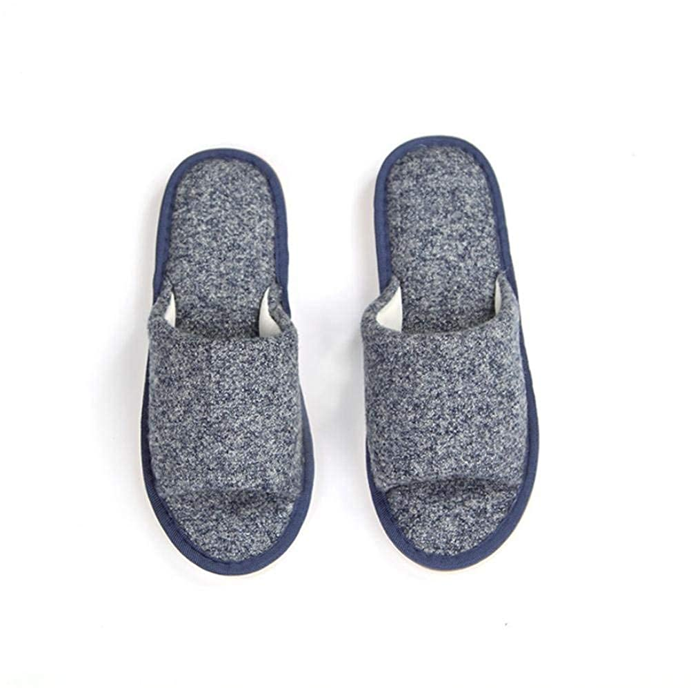 Comfortable Slipper Men s Home Cotton Slippers Indoor Warm Summer Casual Slippers Soild Color Blue Brown Personality Quality for Men