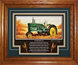 John Deere Model B Styled 1939-1946 DL Gift for Dad Tractor Pictures Wall Decor Framed Tractor Art