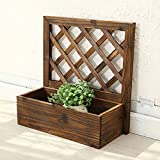 Wall flower pot rack / solid wood flower rack / wooden flower shelf / balcony living room interior decoration rack ( Size : 401740cm )