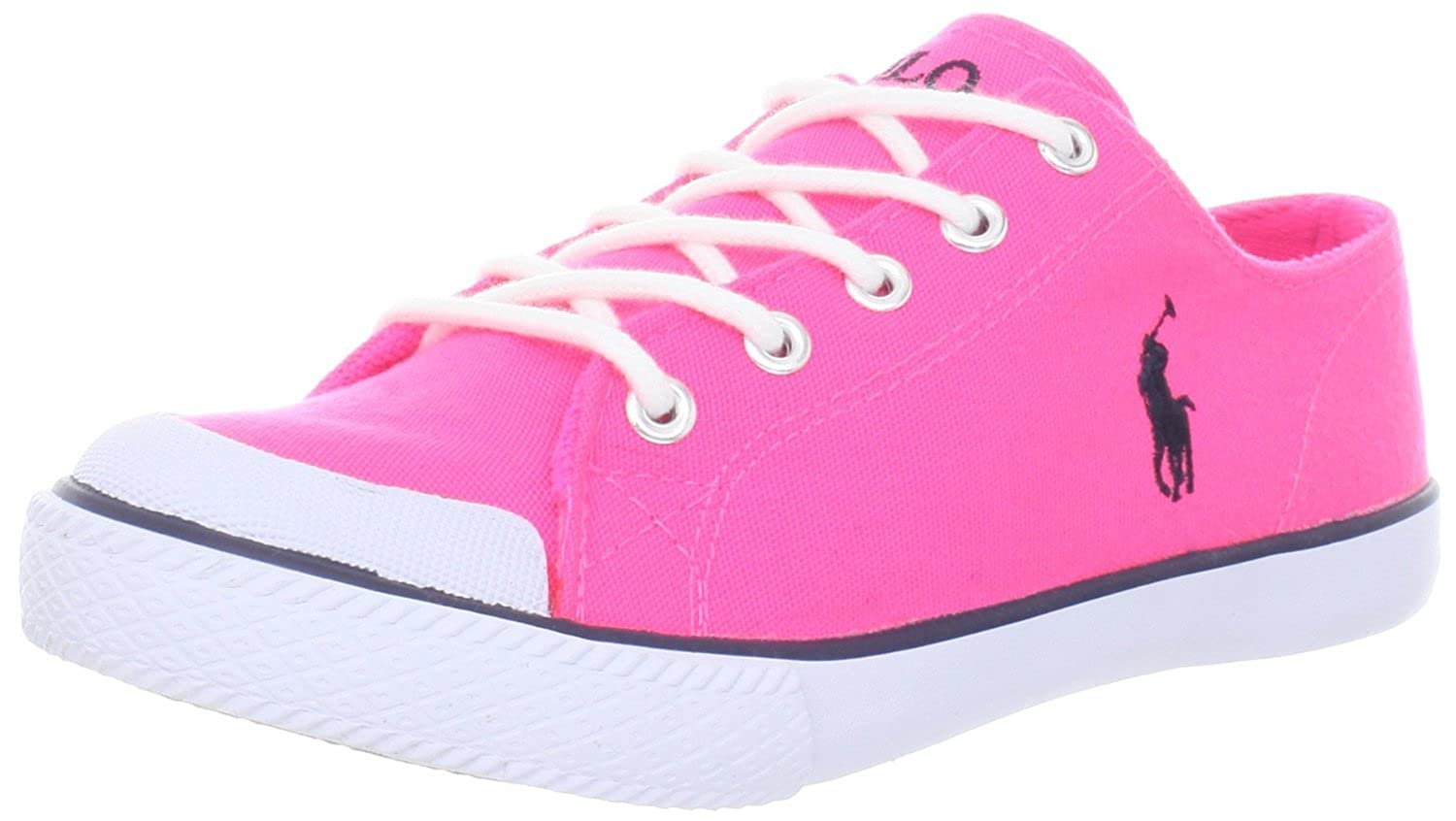 first rate new cheap utterly stylish POLO RALPH LAUREN Chandler Womens Pink Canvas Sneakers Shoes 6.5 ...
