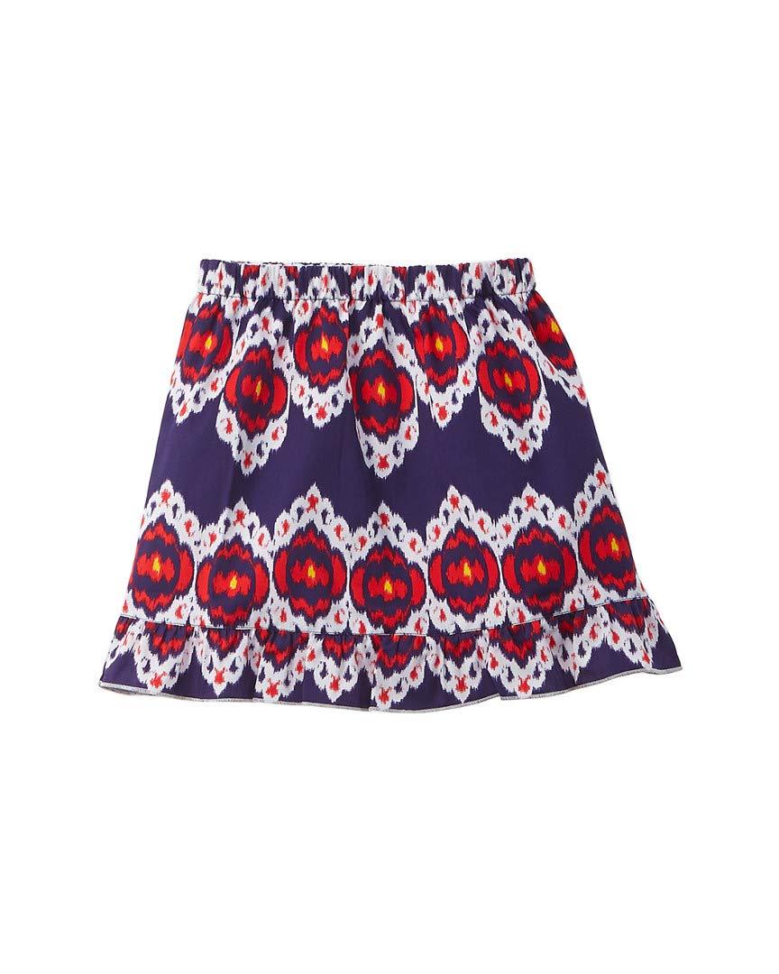 OSCAR DE LA RENTA Girls Ikat Skirt, 5Y, Blue