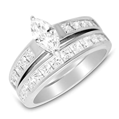 Amazon Com His Hers Wedding Rings Set Cheap Wedding Bands