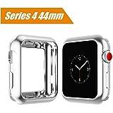 Maxku Apple Watch Series 4 44mm / Apple Watch 4 44mm ケース メッキTPUケース ソフト 耐衝撃 薄型 軽量 カバー TPU 脱着簡単 アップル ウォッチ シリーズ4 44mm ケース(シルバー)