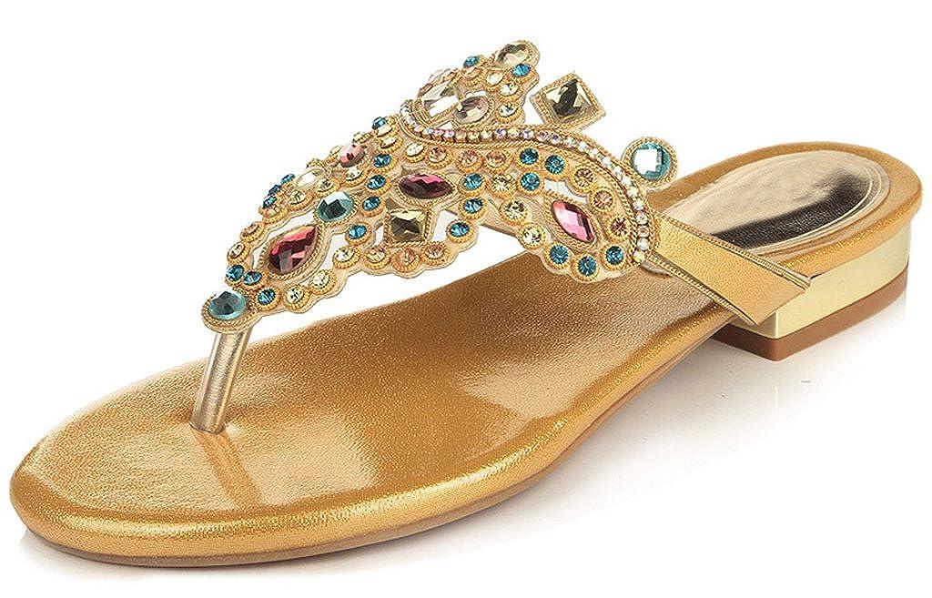 ae14a17e7dfd04 LizForm Womens Colorful Rhinestone Wedding Bride Bridesmaid Party Show  Dress Sandals Flat Shoes  Amazon.ca  Shoes   Handbags