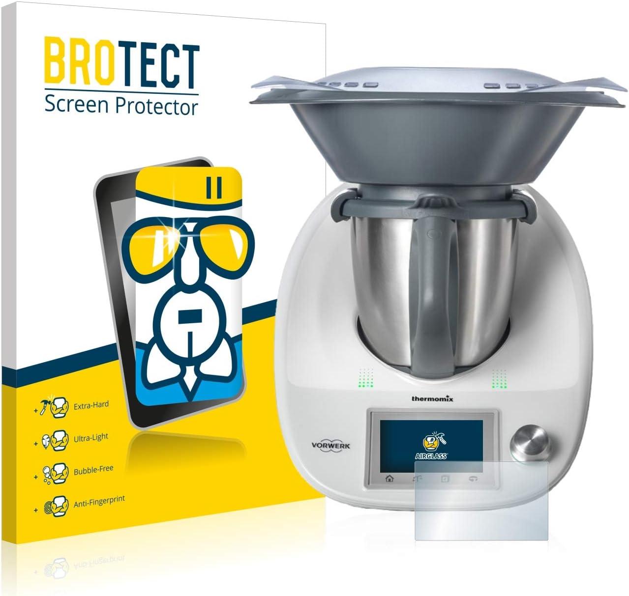 BROTECT Protector Pantalla Cristal Compatible con Vorwerk Thermomix TM5 Protector Pantalla Vidrio Dureza 9H AirGlass: Amazon.es: Electrónica