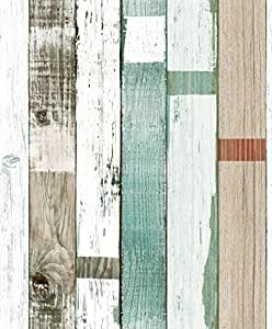Blooming wall vinyl faux wood plank wood panel wallpaper for Quality craft vinyl plank reviews