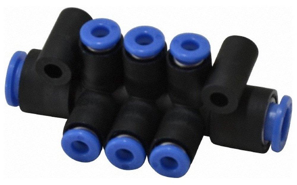 8'' Inlet, 4'' Outlet, Composite & PBT Manifold, 65'' Long, 6 Ports