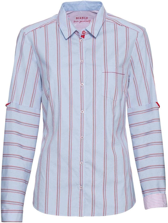 Bianca - Camisa de rayas azules y rojas Negro Negro (50 ...