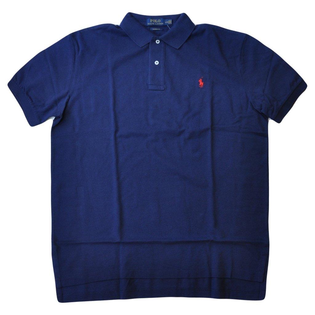 Polo Ralph Lauren Men Classic Fit Mesh Polo Shirt Navy Xx Large At