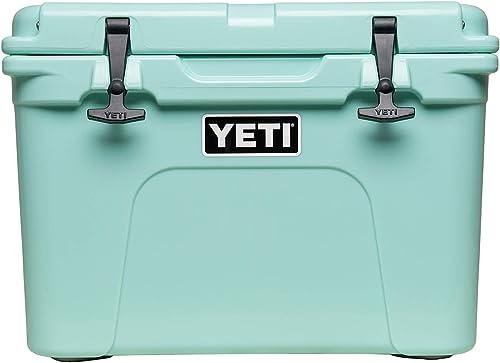 The seafoam Yeti 35 cooler