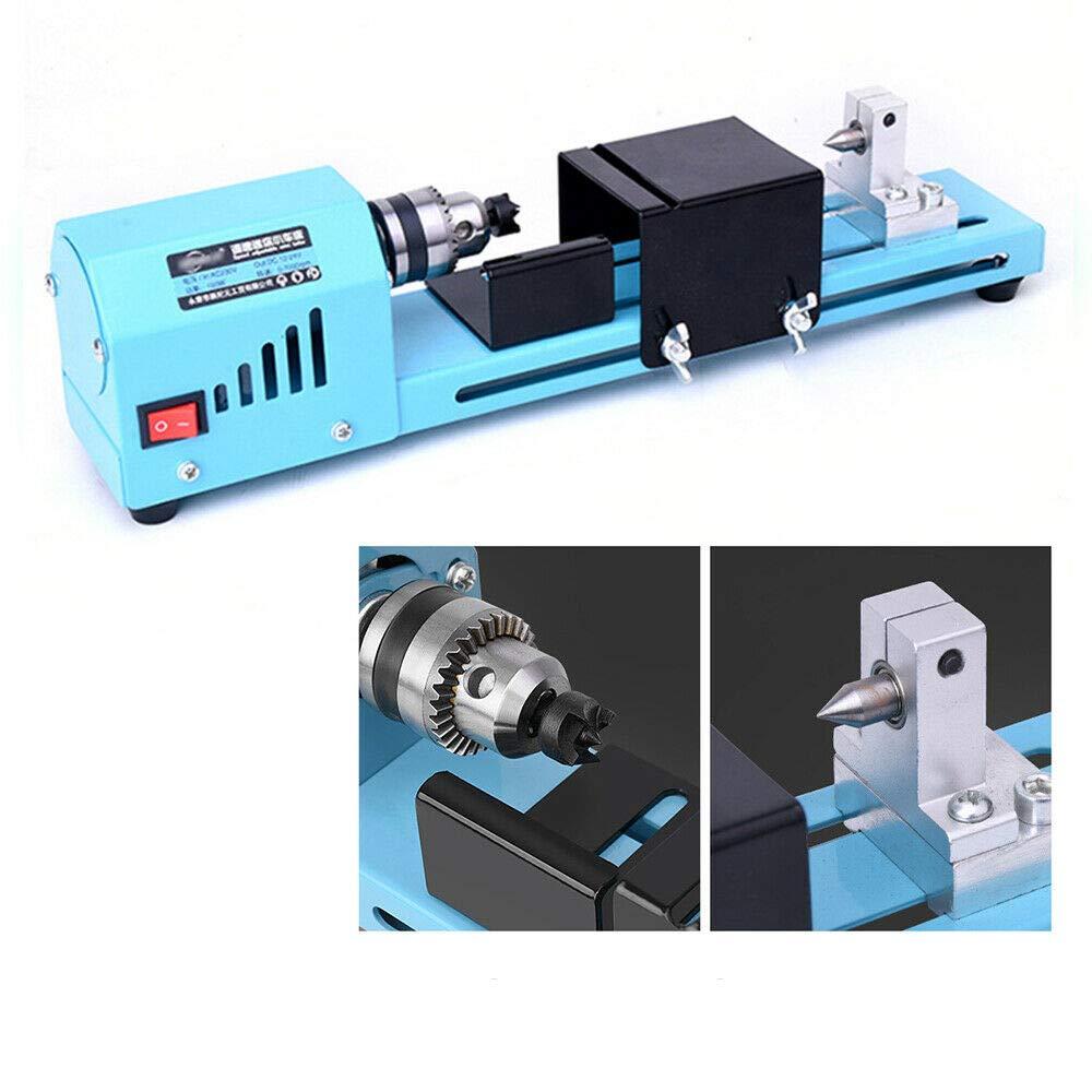 150W 110V Mini Wood Lathe Bead Cutting Machine Drill Polisher Woodworking DIY Drilling 7000RPM by Senderpick