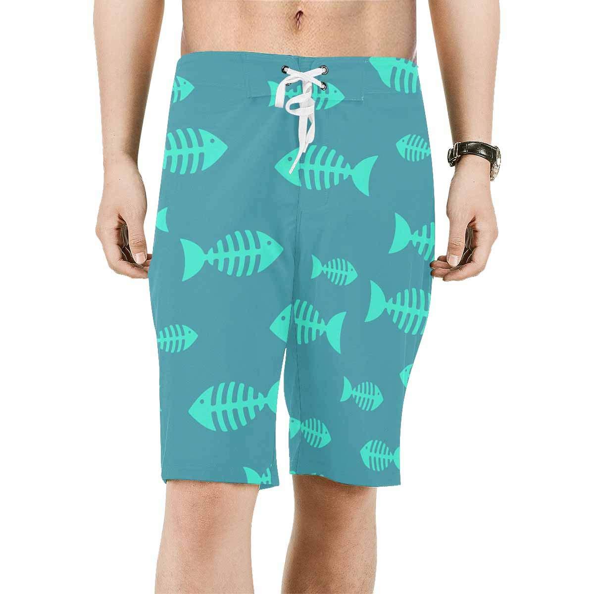 XS-6XL INTERESTPRINT Mens Beach Shorts Fish Quick Dry Swim Trunks