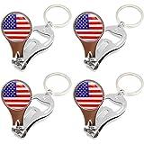 New York (4 Pack) NYC NY Keychain Metal Key Ring NY Souvenir - US