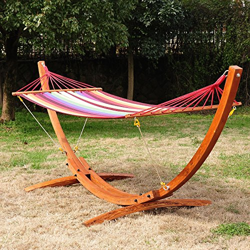 - Hammock Stand Cypress Wooden Arc Colorful With Ebook