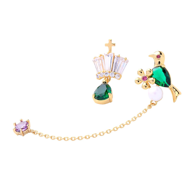 Miss Kiss Bird Earrings Statement Drop Earrings Medusa Green Earrings Gifts