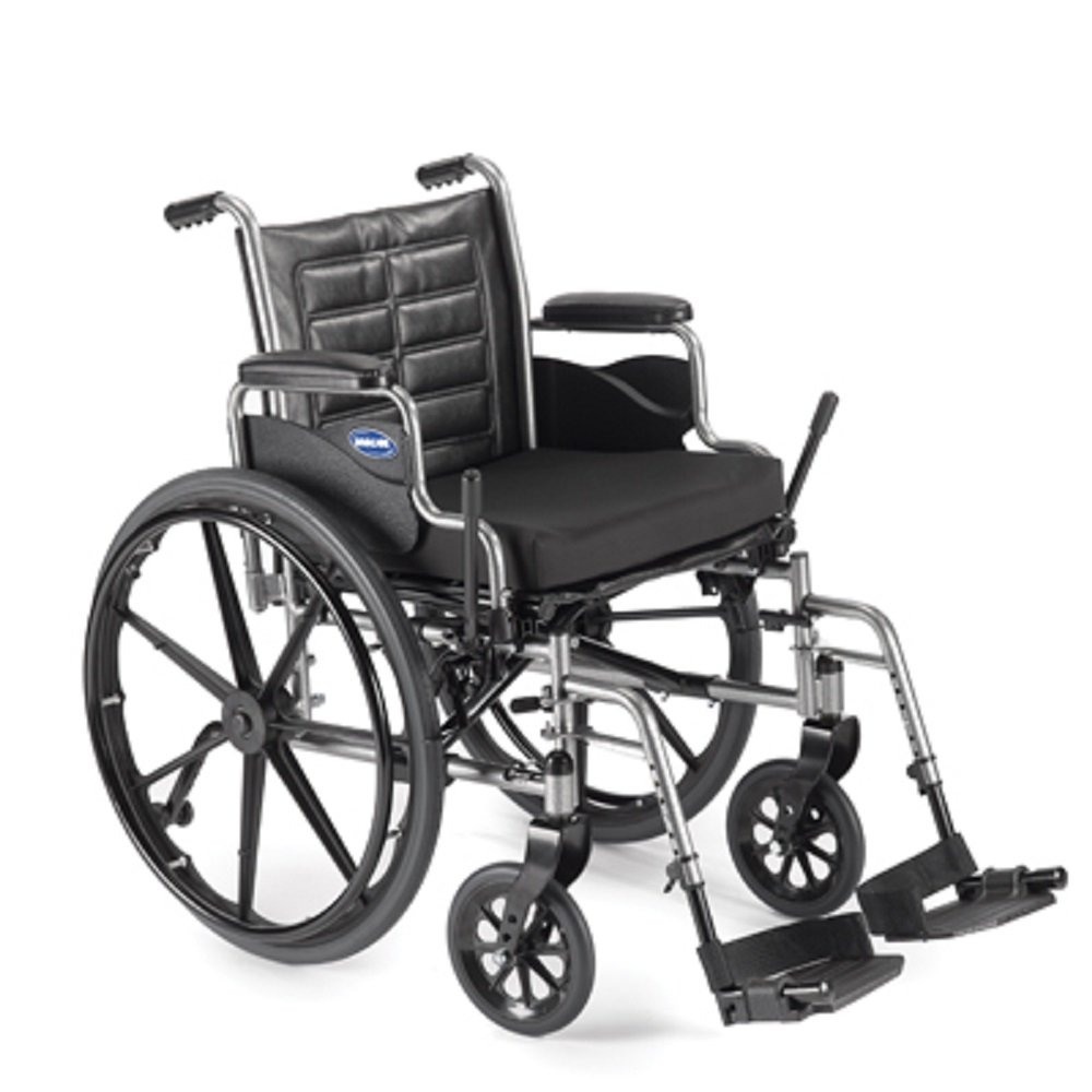 Lightweight Manual Wheelchair (Invacare Tracer EX2 - Size 16 x 16 - Small, TREX26RP w/Swingaway Footrests with Heel Loops, T93HA & Removable Desk-Length Arms)