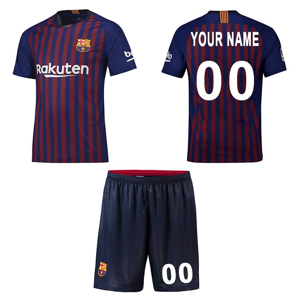 Panicy 2018-2019 Arsenal Home Custom T Shirt Calcio Calcio Jersey Kit per Bambini Giovani Ragazzi Adulti, Personalizzato Qualsiasi Nome e Numero