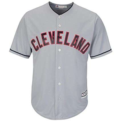 sale retailer 35f09 bb9a5 Cleveland Indians Road Gray Cool Base Men's Jersey (XXL)