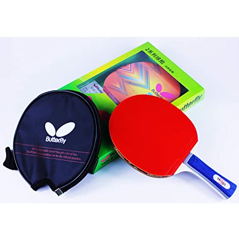cb55f1f3701 Amazon.com   Butterfly 201 Table Tennis Racket Set - 1 Ping Pong ...
