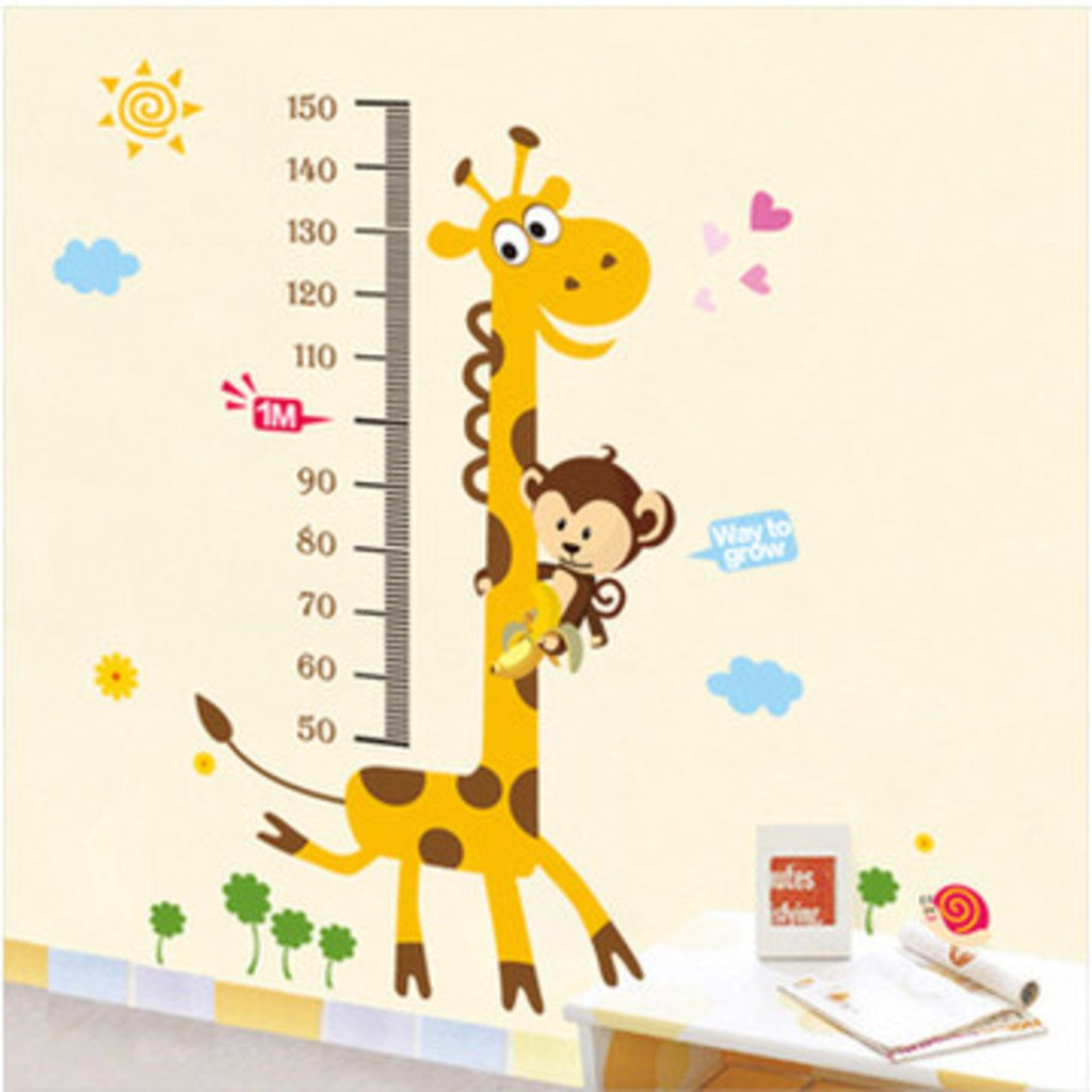 Decals Design 'Kids Giraffe Height Chart' Wall Sticker (PVC