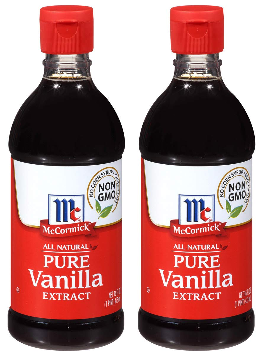 McCormick QDJX All Natural Pure Vanilla Extract, Gluten-Free Vanilla, 2 Pack of 16 Oz by McCormick (Image #1)