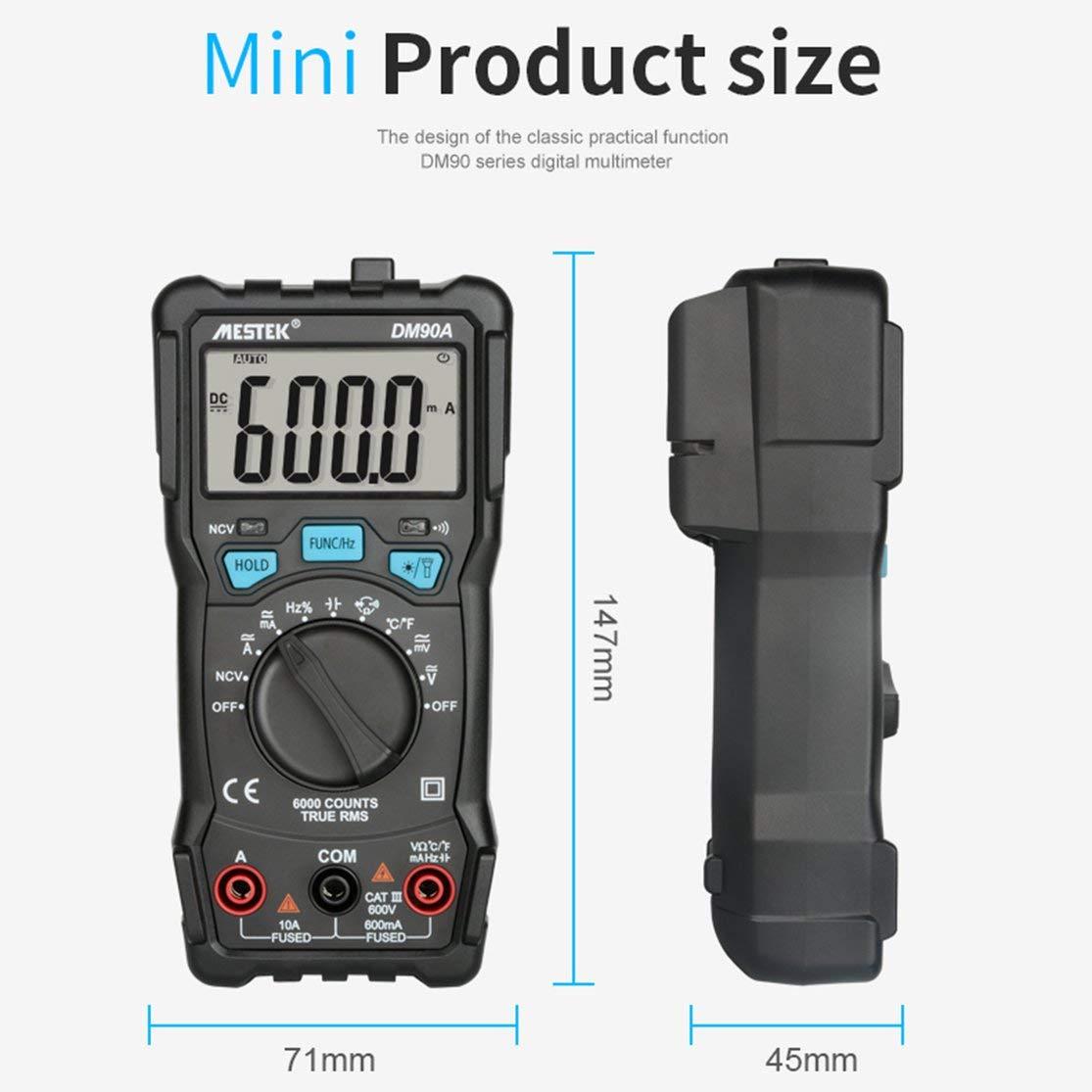 LouiseEvel215 Il multimetro Digitale 6000 Conta Il Tester di Portata Automatica ad Alta velocit/à NCV Intelligente Multimetro di Temperatura Vero RMS