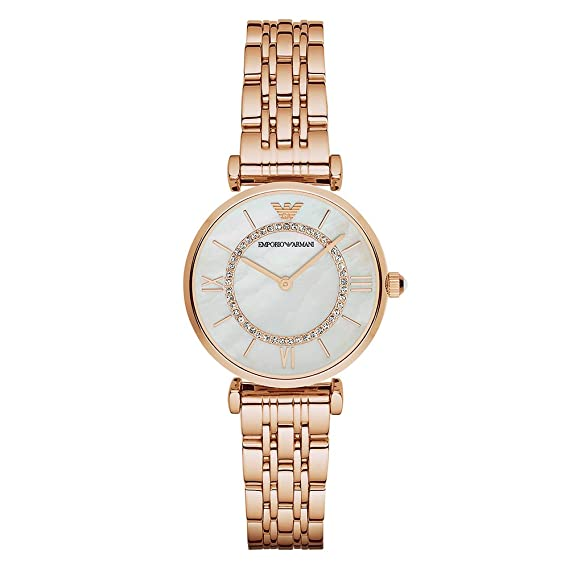 b0e94b0d00 Emporio Armani Women's AR1909 Retro Rose Gold Watch: Emporio Armani ...