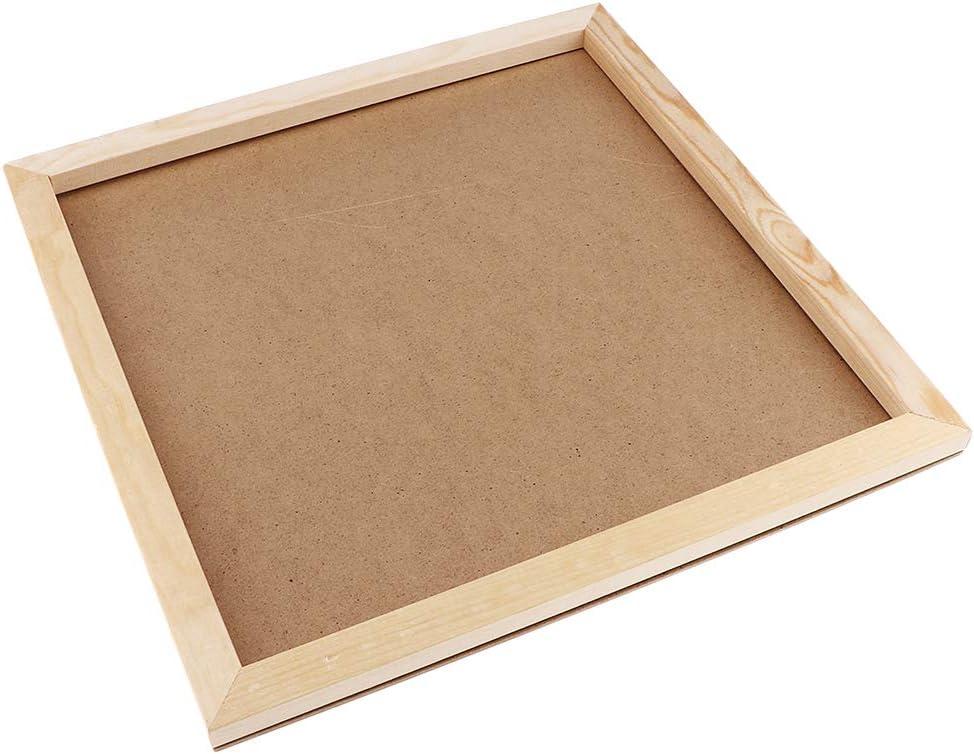 Natural Wood Photo Frame Burlywood Color for Art Crafts Display 30x20cm Frame Picture Holders DIY Crafts-Kids Handcrafts Supply