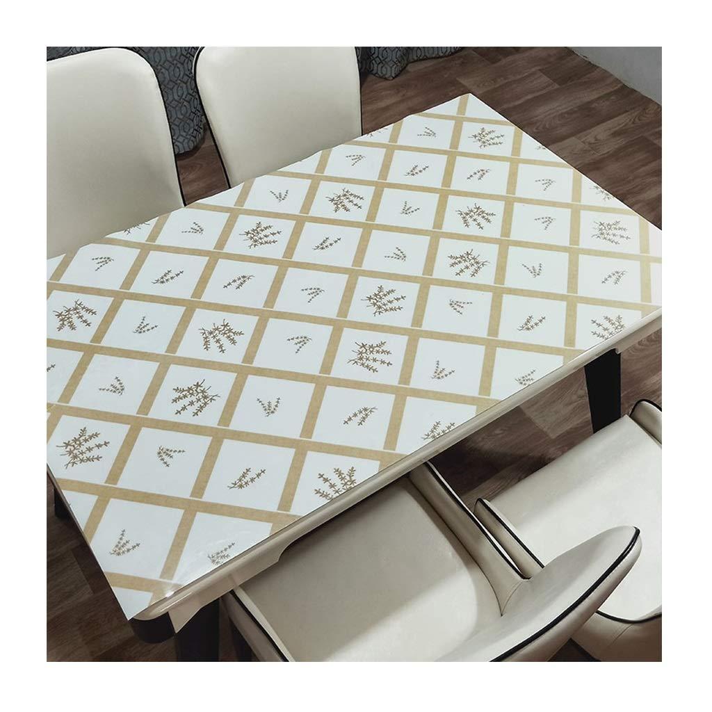 LULU LLH PVC-Tischdecke, ölBesteändige Einweg-Wegwerfwaschbare Anti-heiße Tischdecke undurchsichtige weiche Glas-Couchtischmatte freie Waschtischdecke ZHUOB (Farbe   B, größe   80  130cm) B07Q4HPK3Z Tischdecken Exquisite (mittle
